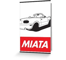 Obey Miata Greeting Card