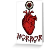 THE HORROR FANATIC ARRIVES Greeting Card