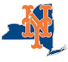 New york Mets- new york state by American Artist