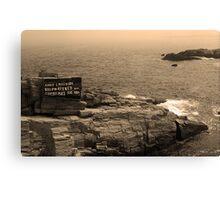 Shoreline and Shipwreck - Portland, Maine Canvas Print