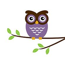 Purple Owl by umeimages
