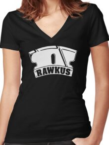 RAWKUS RECORDS Women's Fitted V-Neck T-Shirt