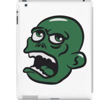 head zombie funny cool iPad Case/Skin
