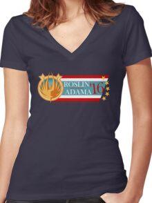 Roslin for President!  Women's Fitted V-Neck T-Shirt