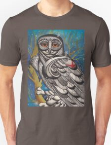 snowy owl with red star T-Shirt