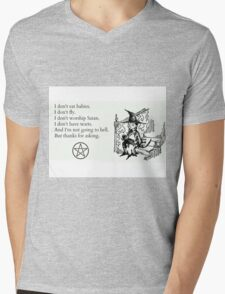 Witches don't... Mens V-Neck T-Shirt