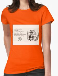 Witches don't... Womens Fitted T-Shirt