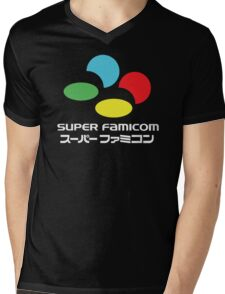 SNES Super Famicom COLOURS Mens V-Neck T-Shirt