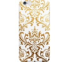 Rossi Damask in Faux Gold iPhone Case/Skin