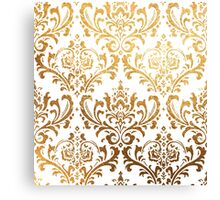 Rossi Damask in Faux Gold Canvas Print