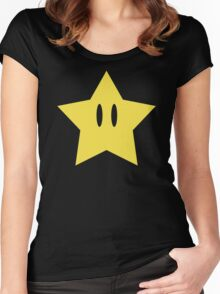 Super Mario Power Star Women's Fitted Scoop T-Shirt
