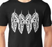 Four White Feathers Unisex T-Shirt