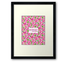 Lilly Inspired Happy Quote First Impression Framed Print