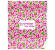 Lilly Inspired Happy Quote First Impression Poster