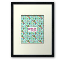 Lilly Inspired Happy Quote You Gotta Regatta Framed Print