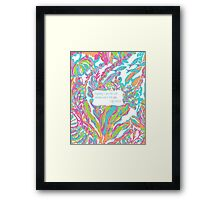 Lilly Inspired Sunshine Pink Quote Scuba to Cuba Framed Print