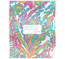 Lilly Inspired Sunshine Pink Quote Scuba to Cuba Poster
