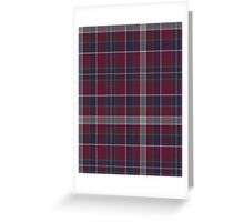 02907 Saginaw County, Michigan Tartan  Greeting Card