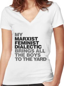 My Marxist feminist dialectic Women's Fitted V-Neck T-Shirt