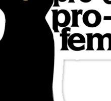 Pro-cats Pro-choice Pro-feminism Sticker