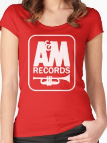 A&M RECORDS VINTAGE Women's Fitted Scoop T-Shirt