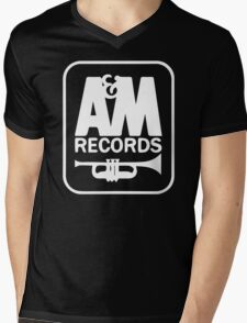 A&M RECORDS VINTAGE Mens V-Neck T-Shirt