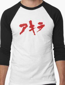 Akira Japanese Kanji Logo Men's Baseball ¾ T-Shirt