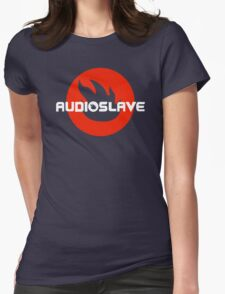 AUDIOSLAVE Rock Band Logo Womens Fitted T-Shirt