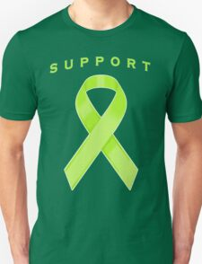 Lime Green Awareness Ribbon of Support T-Shirt