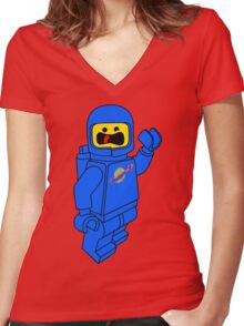 SPACESHIP! Women's Fitted V-Neck T-Shirt