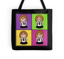 Tie Girl Liz Squared Tote Bag