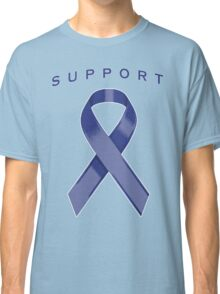 Blue Awareness Ribbon of Support Classic T-Shirt