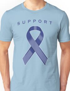 Blue Awareness Ribbon of Support Unisex T-Shirt