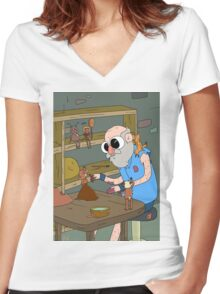 Pottery Master Women's Fitted V-Neck T-Shirt