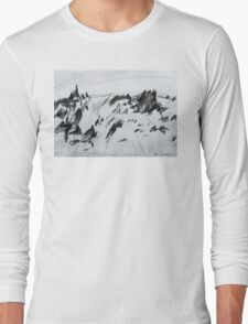 Antarctic Mountain Range Long Sleeve T-Shirt