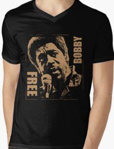 FREE BOBBY Mens V-Neck T-Shirt