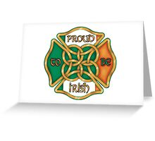Irish Firefighter Greeting Card