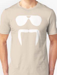 Aviator Sunglasses Horseshoe Fu Manchu Biker Mustache Unisex T-Shirt