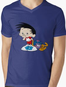 Bobby's World - Bobby & Webbly color Mens V-Neck T-Shirt