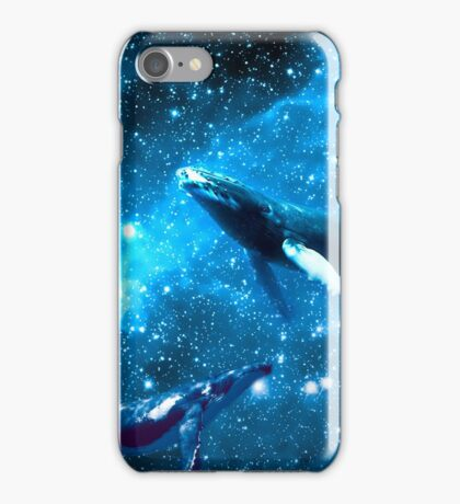 Space Whales and Scubba Diver iPhone Case/Skin