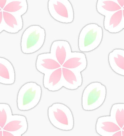 Pink Blossom Cluster Sticker