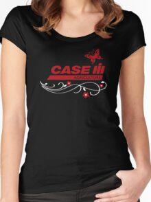 Case IH Farm BUTTERFLY Women's Fitted Scoop T-Shirt