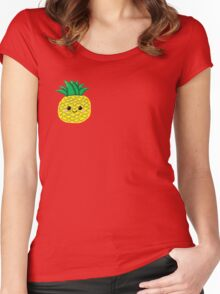 Cute Pineapple Women's Fitted Scoop T-Shirt