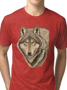 Grey Wolf Portrait Tri-blend T-Shirt