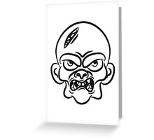 zombie funny comic head Greeting Card