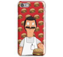 Bob Belcher Burger Pattern Red iPhone Case/Skin