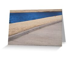 bleached blue Greeting Card