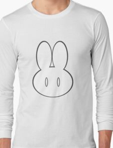 Simple Bunny Head Long Sleeve T-Shirt