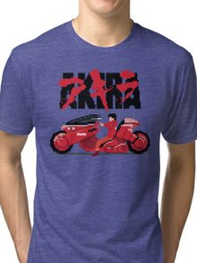 Akira Pixelart Tri-blend T-Shirt
