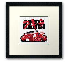 Akira Pixelart Framed Print